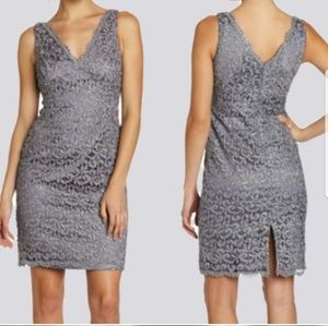 Adrianna Papell Lace Sheath Cocktail dress Size 8